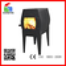 La chimenea de hierro fundido de pie libre