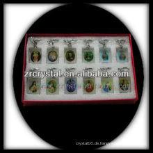 LED Kristall Schlüsselanhänger mit 3D Lasergravur Bild innen und leer Kristall Schlüsselanhänger G021