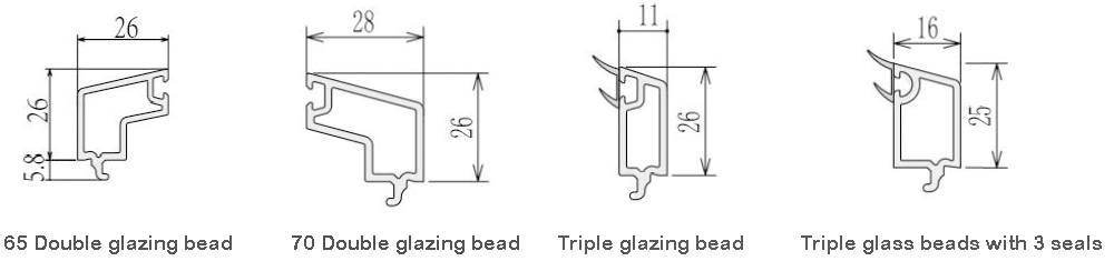 Glazed upvc profile