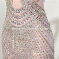 2017 Strenth satin schwere perlen chiffon elegantlong abendkleid