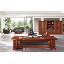 Antique Walnut Wood Veneer MDF Office Furniture Luxury