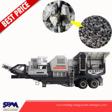 Gravel station used mobile construction stone crusher
