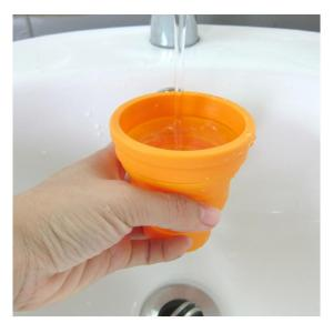 Convenient Drinking Bottle Silicone Folding Cup