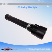 Alibaba china supplier Jexree underwater scuba diving flashlight/seawater led torch with accessory 18650 li-ion battery