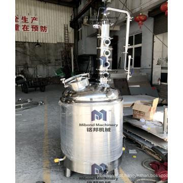 Destilador do álcool da fermentação home de 100L 200L com a coluna de cobre da flauta