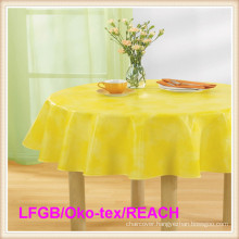 PVC Printed Table Clothes with Nonwoven / Flannel Backing