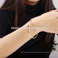 Оптовая OEM позолоченные бледным овальным меди и натуральных браслеты девушки браслеты