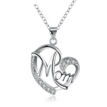 Gifts for Mom Mother Necklace Pendant Sterling Silver for Women Love Heart Mom Birthday Gifts