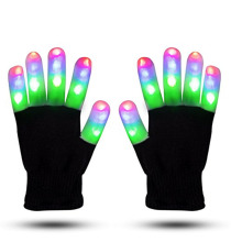 Hot Selling Dancing Colorful Custom Glowing Gloves