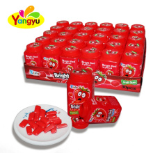 Bottle Packing Strawberry Flavor Crispy Sugar Chewing Gum Factory