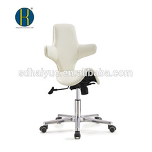China Made white PU modern styling stools furniture with five-star base