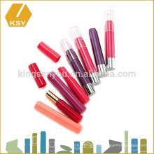 OEM chubby hair dye batom crayon plástico tubo de cosméticos