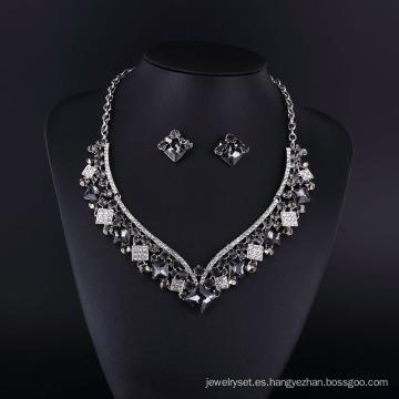 Collar de mujer de ágata y hemitate de diamantes de imitación 2016