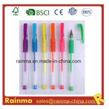 Artigos de papelaria escolar com conjunto de canetas de tinta Gel