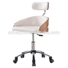 2017 белый черный искусственная кожа конференция стул из орехового дерева