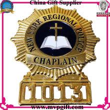 Badge de police métallique Bespoken avec logo 3D