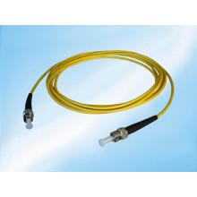 Cabo de remendo simples da fibra óptica do fumo do PVC do St-St de 3.0m 3.0mm