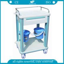 AG-CT006B1 con un material plástico del hospital del cajón que cuida el carro clínico del ABS para la venta