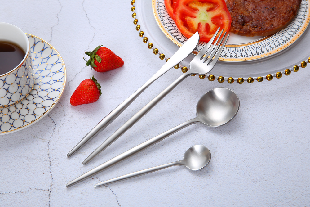 18 10 Stainless Steel Cutlery With Customized Logo High Grade Hotel Flatware Set 3