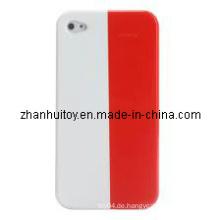Polen-Flaggen-Muster-rückseitige harte schützende Abdeckungs-Fall-Shell für iPhone 4.JPG