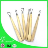 6pcs Hand Clay Pottery tools set with steel ribbon blades /sculpting tools
