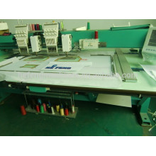 2 Köpfe Mixed Coiling & Gewindeschneiden Stickerei Maschine