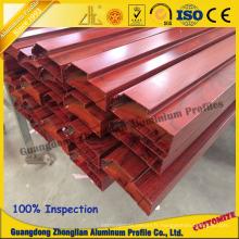 L'extrusion en aluminium de profils de grain en bois pour l'usage différent