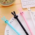 0.5mm Cute Kawaii Plastic Gel Pens Lovely Cartoon Rabbit Pen For Kids Writing Gift Korean Stationery