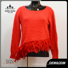 Women Claasy Red Sweater Clothes