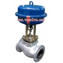 Válvula de control de globo de un solo puerto