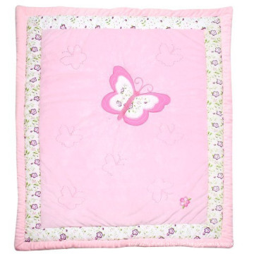 Patchwork Quilt Sale in Pink Butterfly Very Sweet for Baby Girl Princess