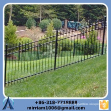 Customized high quality black slope steel fence, steel fence suite the slope terrain, stair step slope fence
