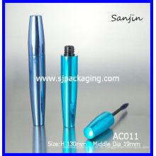 Blaue leere Aluminium Wimperntusche Rohr