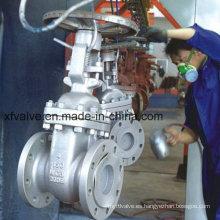 ANSI Estándar 150lb Acero fundido Wcb Válvula de compuerta de extremo de brida
