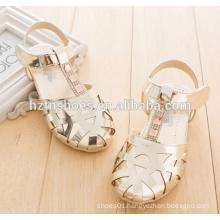 Shiny girls dress shoes velcro kids sandals