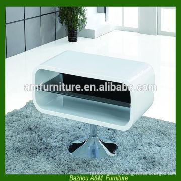 Современная гостиная мебель МДФ подставка под телевизор с хромированными металлическими ножками