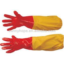 Перчатки из ПВХ с длинным рукавом