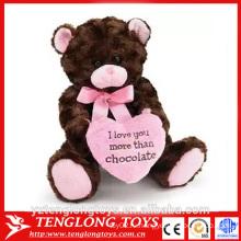 Плюшевый медведь день Святого Валентина, плюшевый плюшевый игрушечный медведь, плюшевый плюшевый мишка валентина