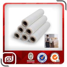 Film extensible manuel d'enveloppe de rétrécissement de puissance de PE transparent pour l'emballage de palette