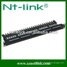 Патч-панель для телефонной клавиатуры 25 портов черного цвета cat3