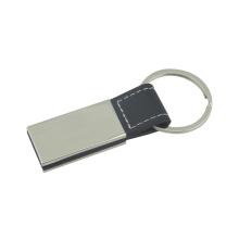 Förderung-Zink-Legierungs-Metallleder-Schlüsselhalter mit Firmenzeichen (F3056B)
