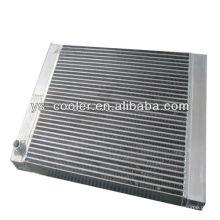 Refrigerador de aceite de aire de placa de aluminio de compresor alternativo