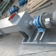 Double screw conveyor for bag filter