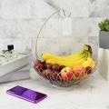 2-х уровневая корзина для фруктов из нержавеющей стали с творческой проволокой