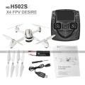 Hubsan X4 H502S RC Drone 5.8G FPV GPS Altitud modo RC Quadcopter con cámara 720P Sígueme una clave Retorno sin rostro Drones en modo
