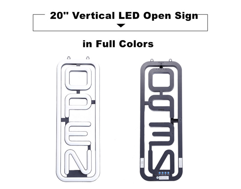 vertical open sign