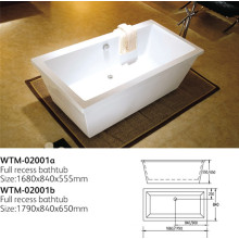 Plastic Lighted Bathtub Common Bathtub with Good Quality Tub