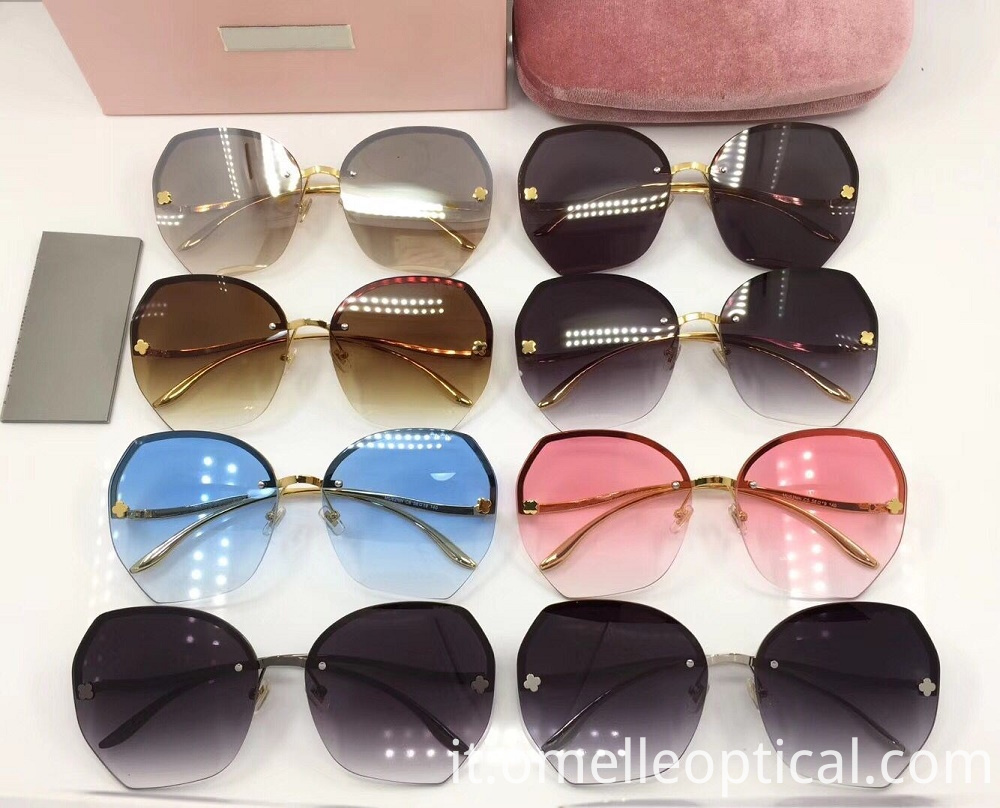 Rimless Sunglasses For Ladies