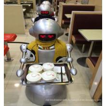 Робот работает в столовой вместо официанта / гуманоида