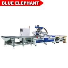 Máquina de anidación CNC del mejor precio del gabinete de muebles del panel de madera de la fuente con el sistema auto de la carga y de la descarga